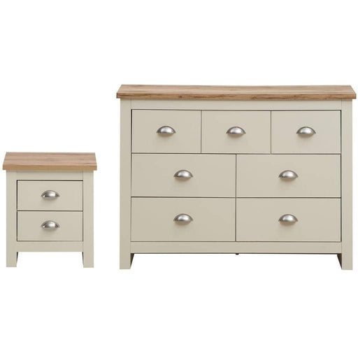 Lisbon 2 Piece Set (3+4 Chest, 2 Drawer Bedside) - Simply Utopia