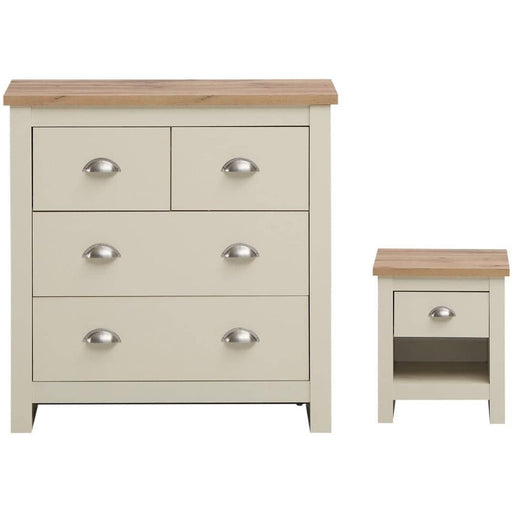 Lisbon 2 Piece Set (2+2 Chest, 1 Drw Bedside) - Simply Utopia