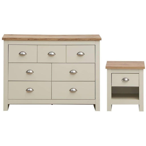 Lisbon 2 Piece Set (3+4 Chest, 1 Drawer Bedside) - Simply Utopia
