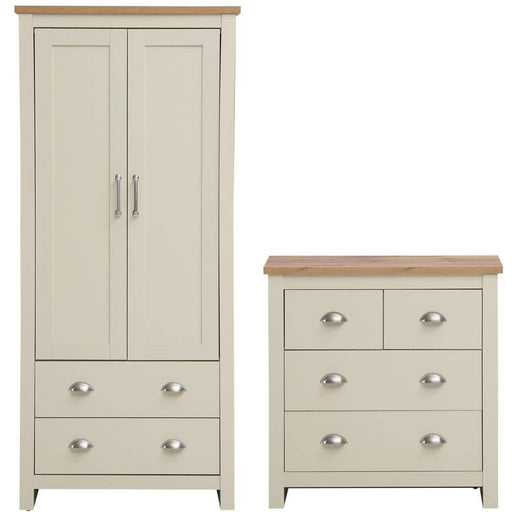 Lisbon 2 Piece Set (2 Door Wardrobe, 2+2 Chest) - Simply Utopia