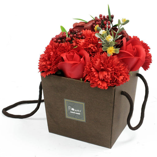Red Rose and Carnation Soap Bouquet - Simply Utopia