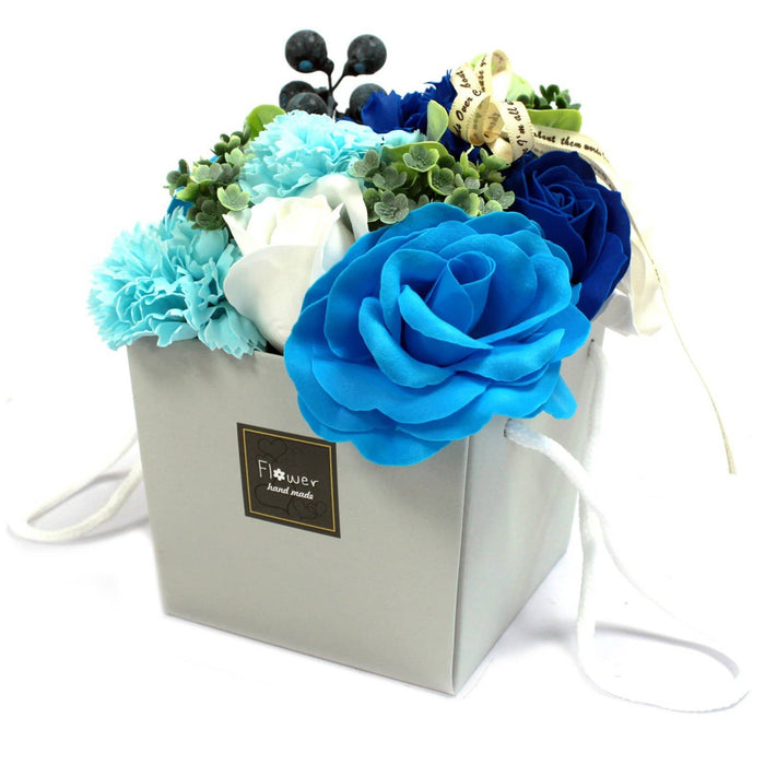 Blue Wedding Flowers Soap Bouquet - Simply Utopia