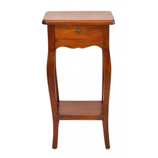 Mahogany Village Small Telephone Table With 1 Drawer - Simply Utopia