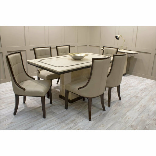 Alfredo High-Gloss Marble Dining Table - Simply Utopia