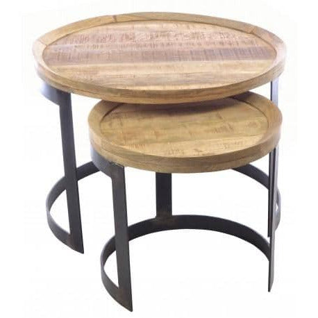 Old Empire Round Nest of Tables - Simply Utopia