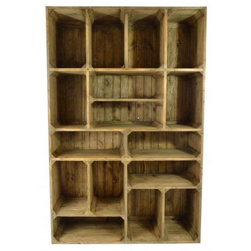 Oregon Pine Wooden Storage Display Unit - Simply Utopia