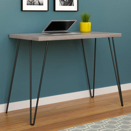 Owen Retro Rustic Desk With Black Metal Hairpin Legs - Simply Utopia