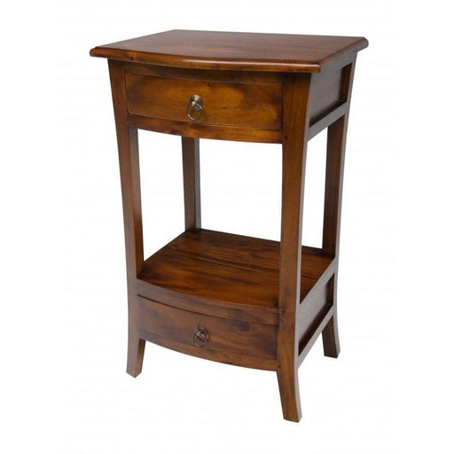 Pacific Mahogany Telephone Table With 2 Drawers - Simply Utopia