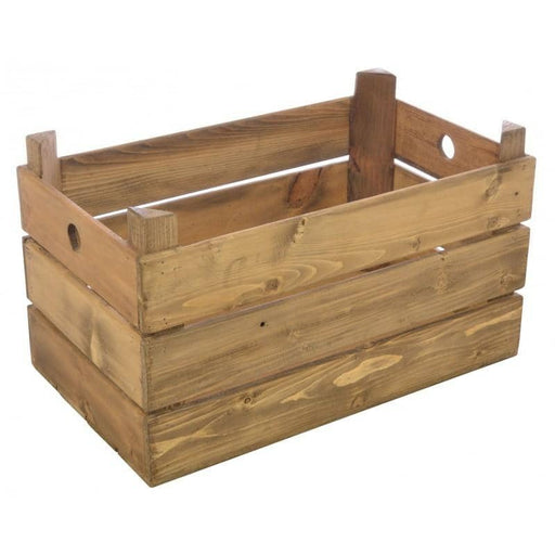 Polished Wooden Crate - Simply Utopia