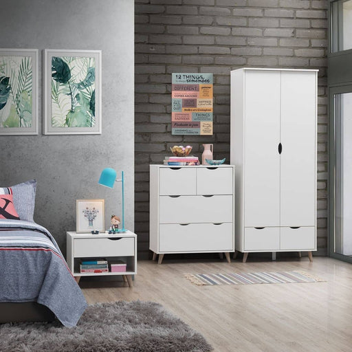 Pulford 3 Piece Bedroom Set 2+2 Drawer - Simply Utopia