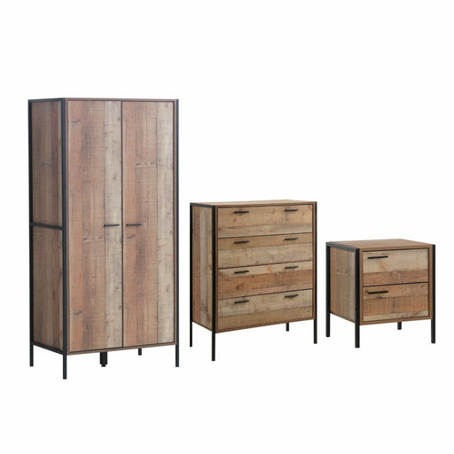 Stretton 3 Piece Bedroom Set 2 Door Wardrobe - Simply Utopia