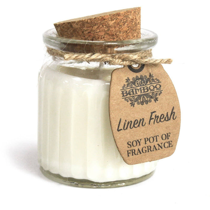Linen Fresh Soy Pot of Fragrance Candles - Simply Utopia