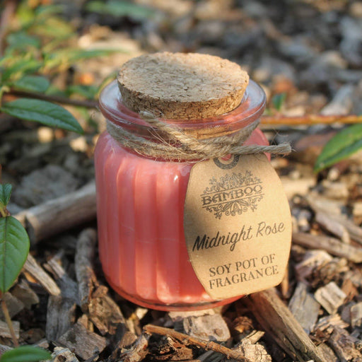 Midnight Rose Soy Pot of Fragrance Candles - Simply Utopia