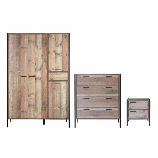 Stretton 3 Piece Bedroom Set 4 Door Wardrobe - Simply Utopia