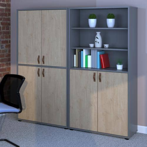 Universal Double Door Cupboard High With 2 Doors And Shelves - Simply Utopia