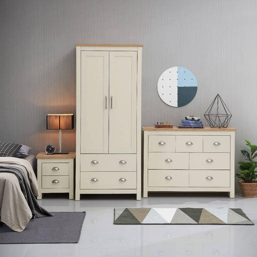 Lisbon 3 Piece Set (2 Door Wardrobe, 3+4 Chest, 2 Drawer Bedside) - Simply Utopia