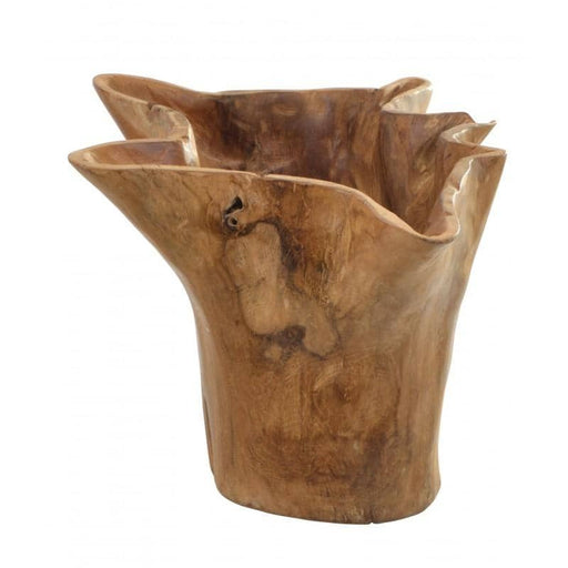 Teak Tree Root Wavy Edge Decorative Bowl - Simply Utopia