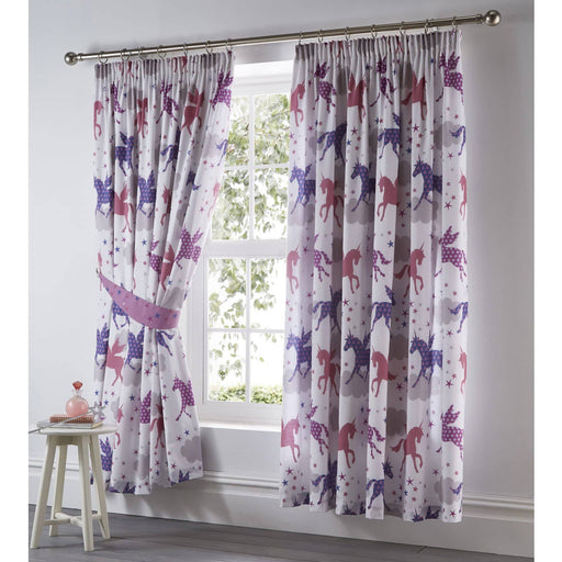 Divine Unicorns Pencil Pleat Curtain - Simply Utopia