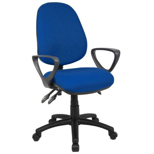 Vantage 200 3 lever asynchro operators chair with fixed arms - blue - Simply Utopia