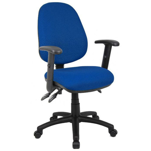 Vantage 200 3 lever asynchro operators chair with adjustable arms - blue - Simply Utopia