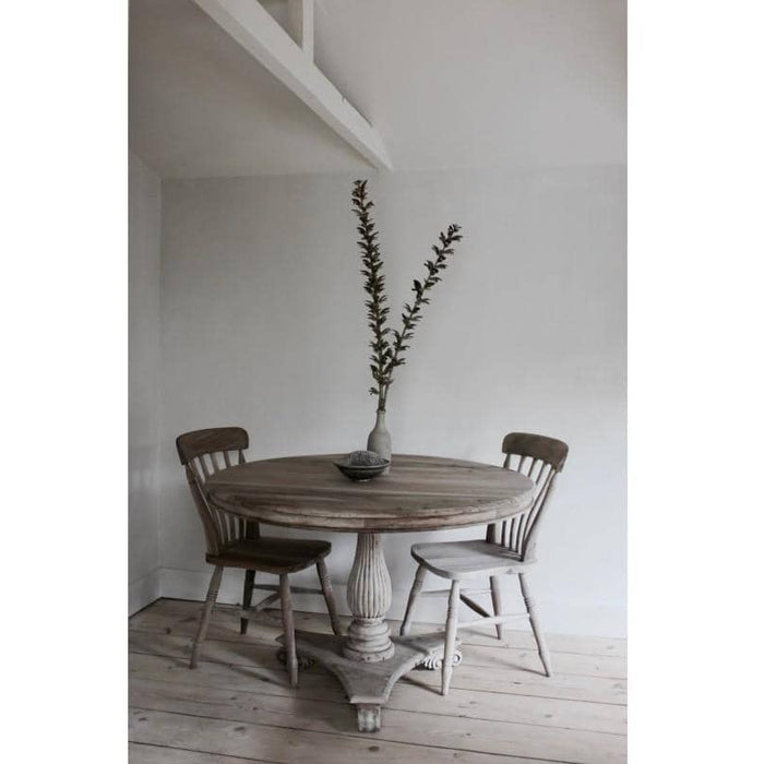 Vintage Round Dining Table 120cm - Simply Utopia