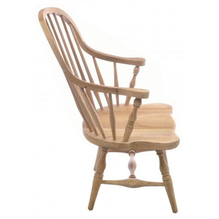 Vintage Solid Mahogany Windsor Chair - Simply Utopia