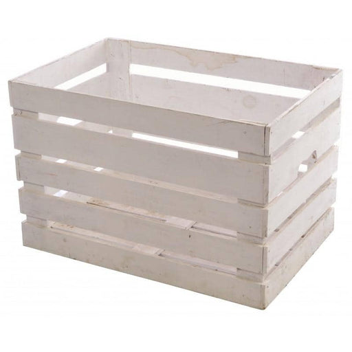 White Painted Wooden Crate - Simply Utopia
