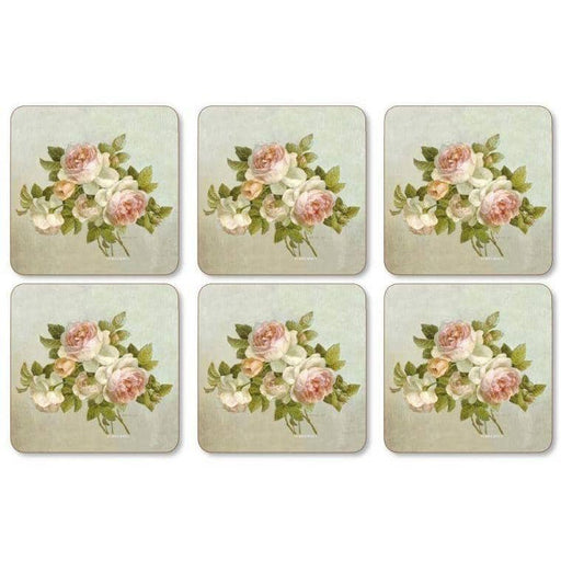 Pimpernel Antique Rose Coasters Set of 6 - Simply Utopia