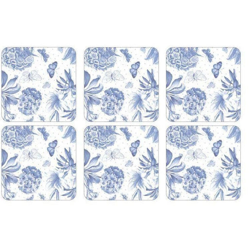 Pimpernel Botanic Blue Coasters Set of 6 - Simply Utopia