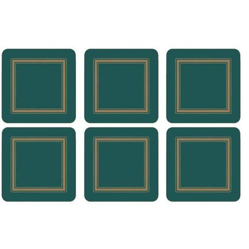 Pimpernel Classic Emerald Set of 6 Coasters - Simply Utopia