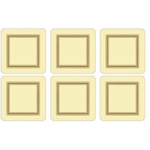 Pimpernel Classic Cream Set of 6 Coasters - Simply Utopia