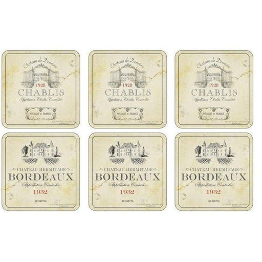 Pimpernel Vin de France Set of 6 Coasters - Simply Utopia