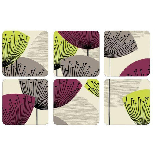 Pimpernel Dandelion Clocks Coasters Set of 6 - Simply Utopia