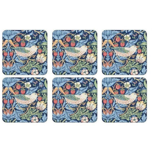 Morris and Co for Pimpernel Strawberry Thief Blue Coasters Set Of 6 - Simply Utopia