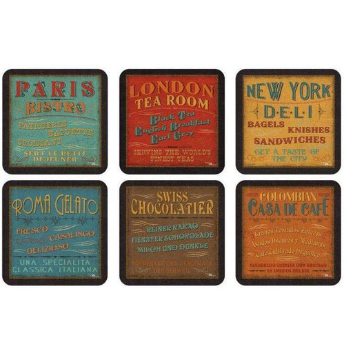 Pimpernel Lunchtime Coasters Set of 6 - Simply Utopia