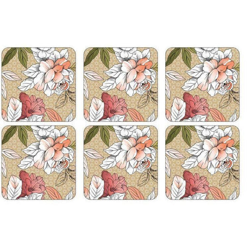 Pimpernel Floral Sketch Coasters Set of 6 - Simply Utopia