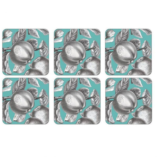 Pimpernel Pomona Turquoise Coasters Set of 6 - Simply Utopia