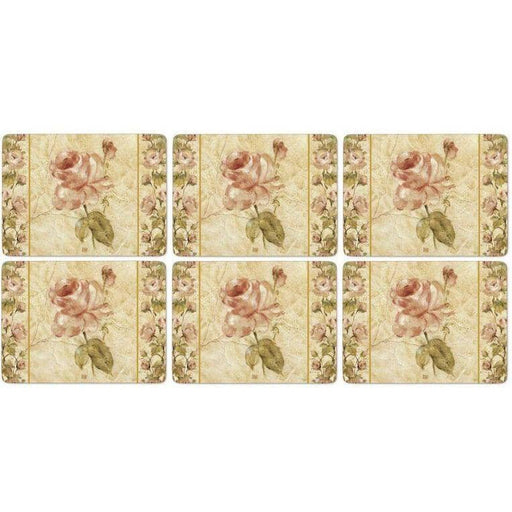 Pimpernel Antique Rose Linen Placemats Set of 6 - Simply Utopia