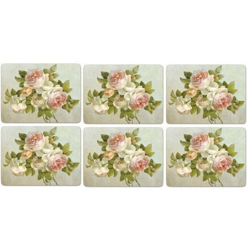 Pimpernel Antique Rose Placemats Set of 6 - Simply Utopia