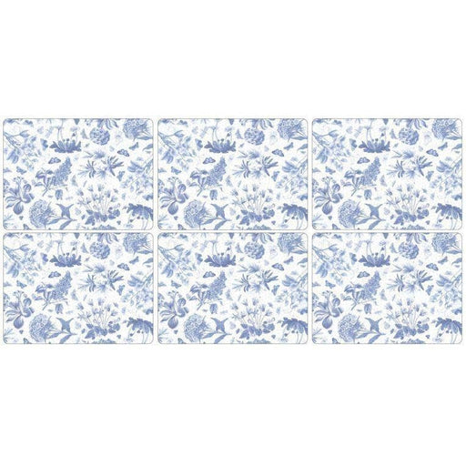 Pimpernel Botanic Blue Placemats Set of 6 - Simply Utopia