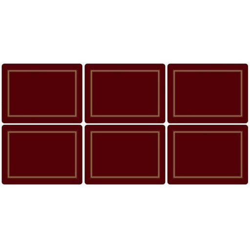 Pimpernel Classic Burgundy Placemats Set of 6 - Simply Utopia