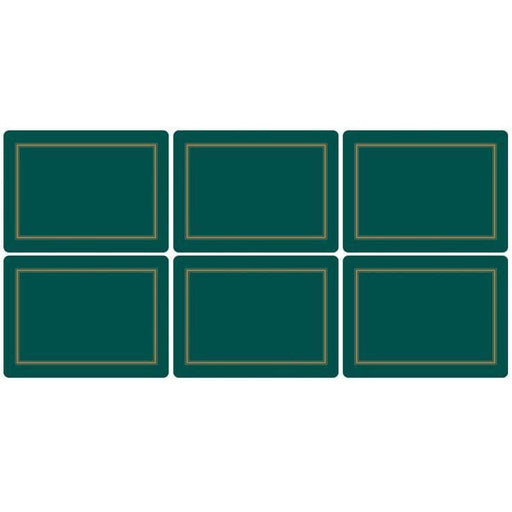 Pimpernel Classic Emerald Placemats Set of 6 - Simply Utopia