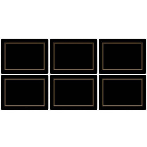 Pimpernel Classic Black Placemats Set of 6 - Simply Utopia