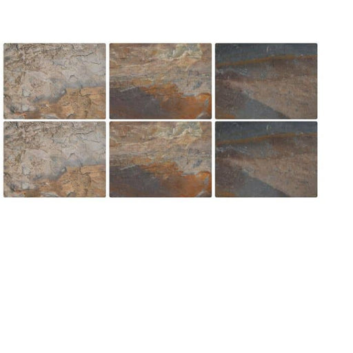 Pimpernel Earth Slate Placemats Set of 6 - Simply Utopia