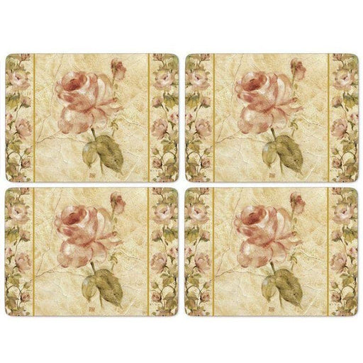 Pimpernel Antique Rose Linen Set of 4 Placemats - Simply Utopia