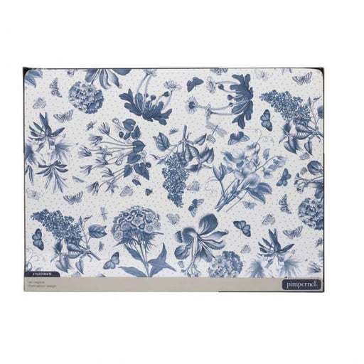 Pimpernel Botanic Blue Placemats Set of 4 - Simply Utopia