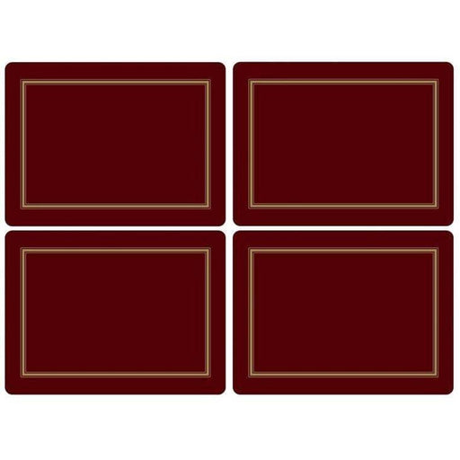Pimpernel Classic Burgundy Set of 4 Placemats - Simply Utopia