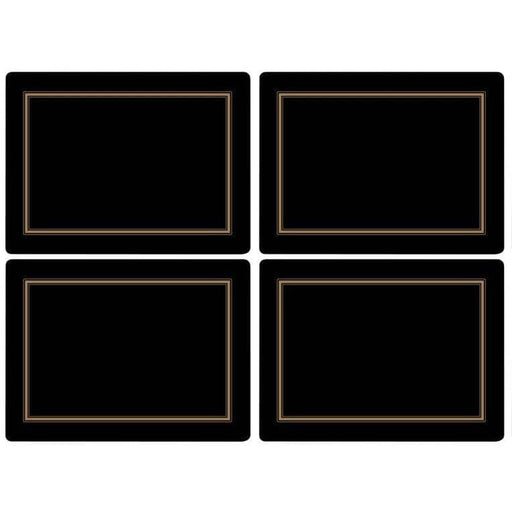 Pimpernel Classic Black Set of 4 Placemats - Simply Utopia