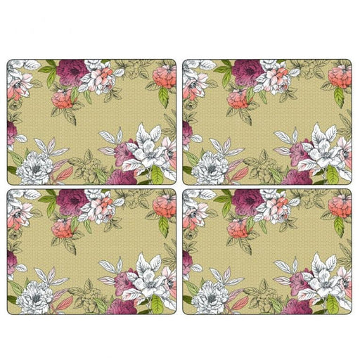 Pimpernel Floral Sketch Large Placemats Set of 4 - Simply Utopia