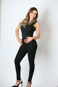 Black high waist push up skinny jeans